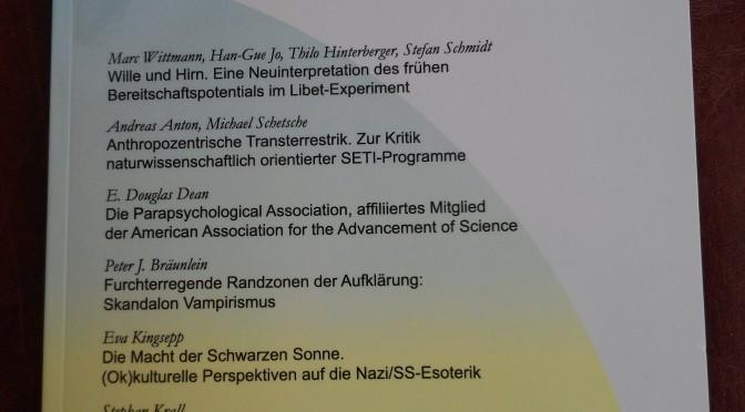 """Zeitschrift für Anomalistik mit Rezension zu """"Lieschens Wald"""""""