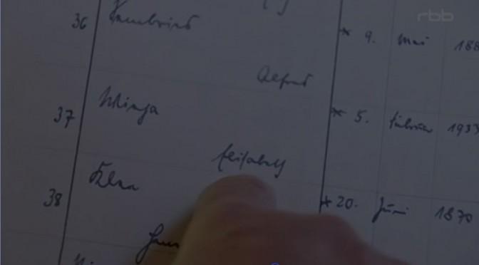 Guter Beitrag im RBB: Theodor auf den Spuren von Elisabeth Wieja